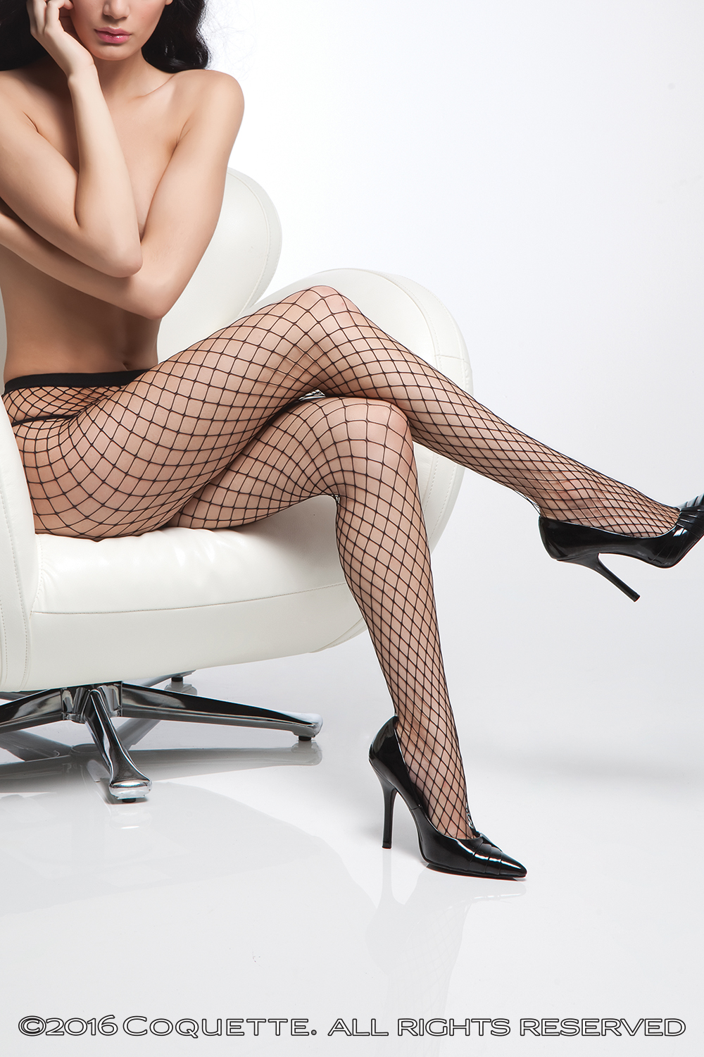Black Silver Diamond Fishnet Stockings - Party City