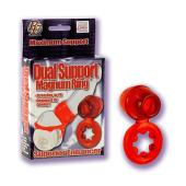 Dual Support Magnum Ring - Red