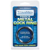 TitanMen Metal Cock Ring - Black