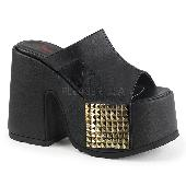 5 inches Chunky Heel, 3 inches Platform Slide