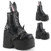 5 inches Chunky Heel, 3 inches Platform, Lace-Up Front Ankle Boot, Side