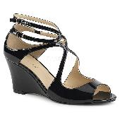 3 inches Strappy Wedge Sandal W/ Cutout Detail