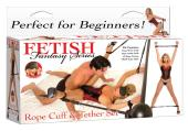 Fetish Fantasy Rope Cuffs and Tether Set