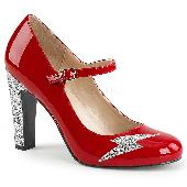 4 inches Heel, 1 1/2 inches PF Round Toe Mary Jane Pump