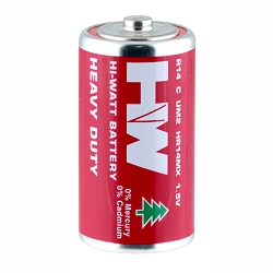 Heavy Duty 'C' Batteries - 2 pack