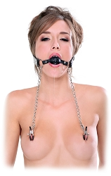 FF Extreme - Deluxe Ball Gag & Nipple Clamps
