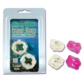 Silicone Island Ring Double Stacker Glow in the Dark