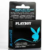 Playboy Condoms - Lubricated Ribbed 3 Pack