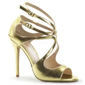 5 inches Heel, Strappy Sandal W/ Cutout Detail