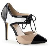 5 inches Heel, 3/8 inches Hidden Platform Tri-Tone D'Orsay Pump
