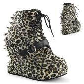 **5 inches Wedge PF, Lace Up Ankle Boot