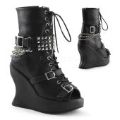 5 inches Wedge PF, Lace Up Calf High Boot