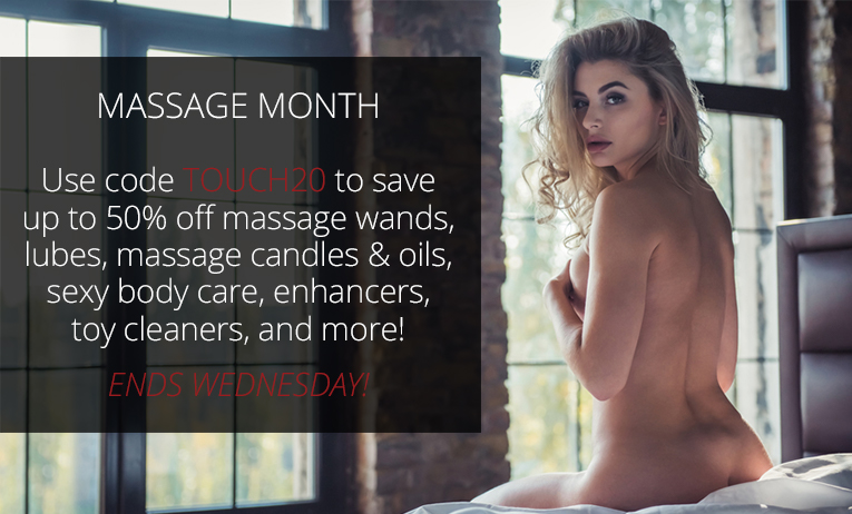 Up to 50% off massage wand, oils, candles, and more!