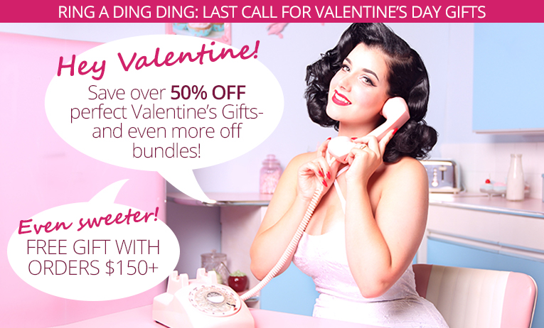 Save over 50% off top Valentine's Gifts!