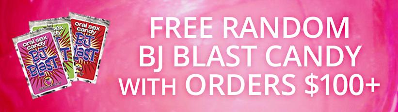 Free random BJ Blast Candy with orders $100+