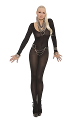 Sheer Long Sleeve Bodystocking