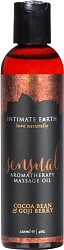 Intimate Earth Sensual Aromatherapy Massage Oil Cocoa Bean and Goji Berry 120ml