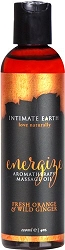 Intimate Earth Energizing Aromatherapy Massage Oil 120ml